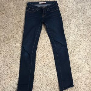 JBrand pencil leg dark jean size 24